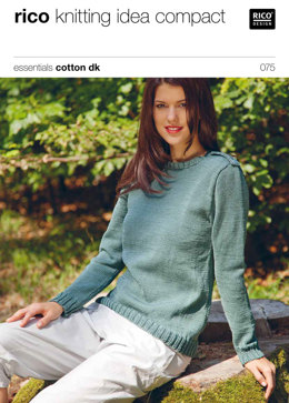 Long and Short Sleeved Sweater in Rico Essentials Cotton DK - 075