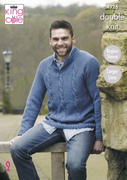 Mens Sweaters in King Cole Majestic DK - 4926 - Downloadable PDF