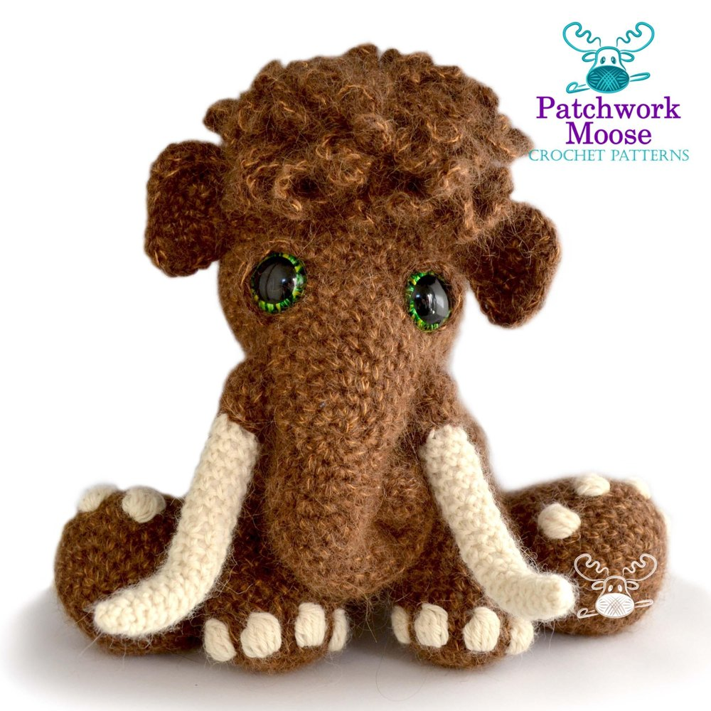Mortimer the Woolly Mammoth Crochet pattern by Patchwork Moose