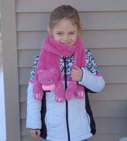 Teddy Bear Scarf in Plymouth Yarn Yarnimals Owl - f707 - Downloadable PDF