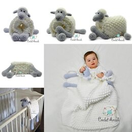 Cuddle and Play Sheep Blanket