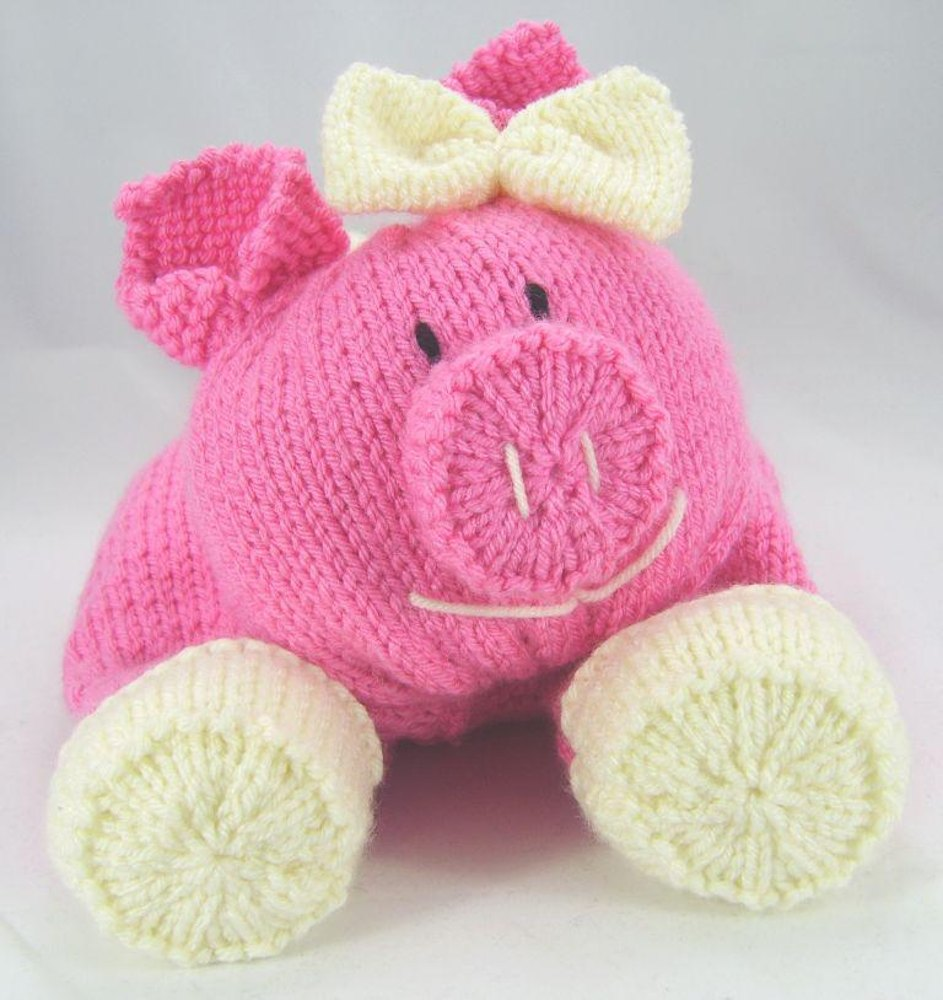 Knitting By Post Facebook : Pig pyjama case knitting pattern by post