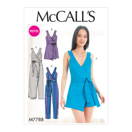 McCall's Misses'/Miss Petite Romper and Jumpsuit M7788 - Sewing Pattern
