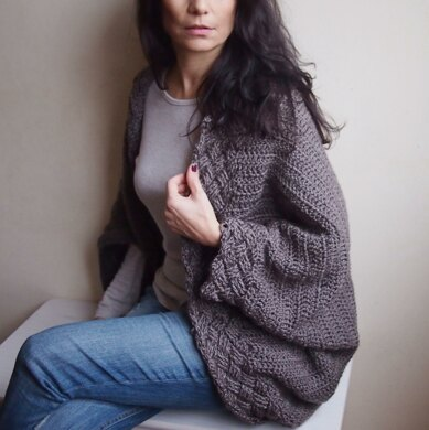 Celtic cable cocoon sweater