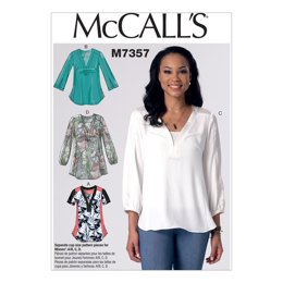 McCall's Misses' Banded Tops with Yoke M7357 - Sewing Pattern