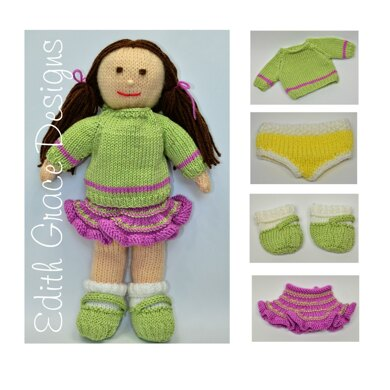 Jemima January Knitted Doll