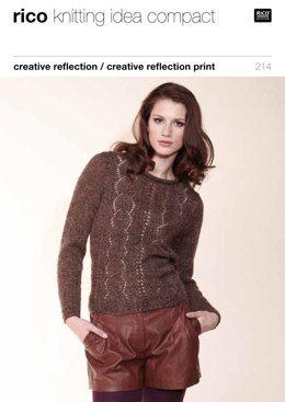Lacy Sweater, Snood & Fingerless Gloves in Rico Creative Reflection - 214