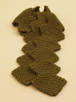 Zigzag Scarf in Lion Brand Wool-Ease Thick & Quick - 70524AD
