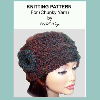 Sian Vintage Style Aran Cable Wrap Corsage Wide Headband Head Band Knitting Pattern by Adel Kay