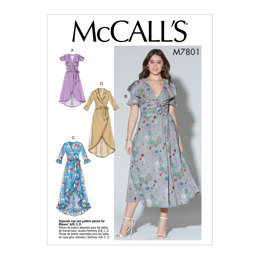 McCall's Misses' Dresses and Belt M7801 - Sewing Pattern
