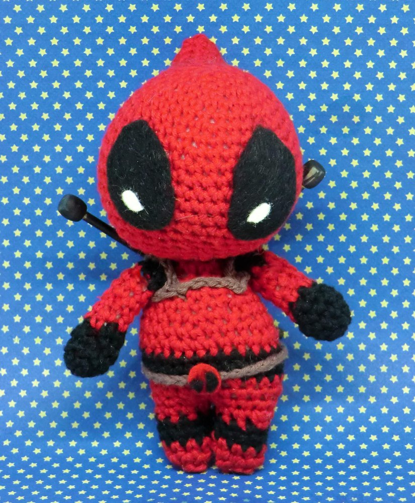 Deadpool Crochet pattern by Liz Ward f90a07f7fb4