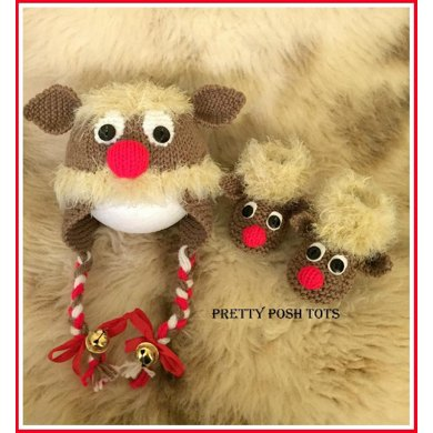 Razzle dazzle reindeer hat and bootees