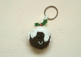 Christmas Pudding keychain