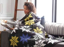 Snowflake Crochet Blanket in Bernat Super Value & Pop! - Downloadable PDF
