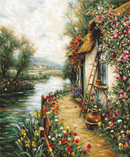 Luca-S Along the River Petit Point Tapestry Kit - Multi