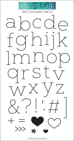 """Concord & 9th Clear Stamps 4""""X8"""" - Simple Serif Alphabet"""