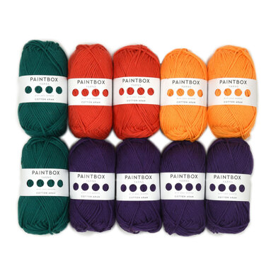 Paintbox Yarns Cotton Aran 10 Ball Color Pack Trends