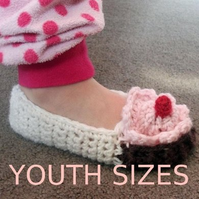 Youth Cupcake Slippers