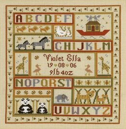 Historical Sampler Company Animal Patchwork Sampler Cross Stitch Kit - 27cm x 29cm