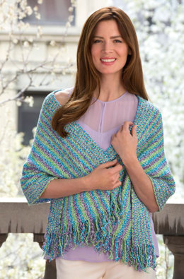 Warm Weather Wrap in Aunt Lydia's Baker's Cotton - LC4336 - Downloadable PDF