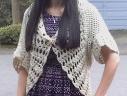 Lace Shell Crochet Shrug Cardigan