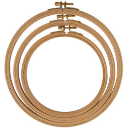 Frank A. Edmunds 8in Wood Hand/ Machine Embroidery Hoop