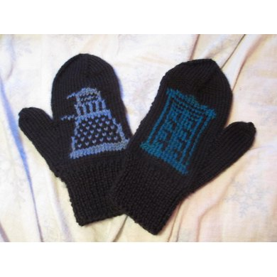 The Daleks Have the TARDIS Mittens for Men