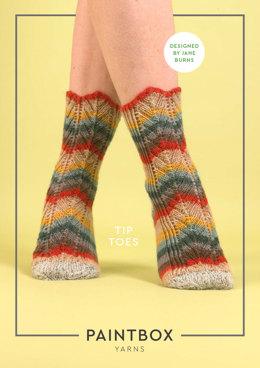 Tip Toes Socks - Free Socks Knitting Pattern in Paintbox Yarns Socks