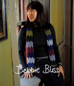 Sweater with Chevron Edging and Scarf in Debbie Bliss Merino DK - Downloadable PDF