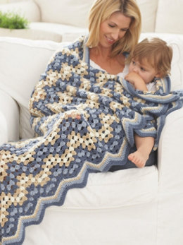 Granny goes Ripple Blanket in Caron Simply Soft - Downloadable PDF