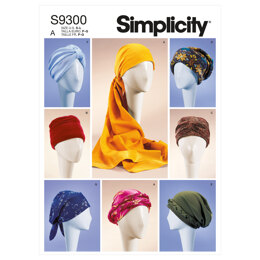 Simplicity Misses' Turbans, Headwraps & Hats S9300 - Sewing Pattern