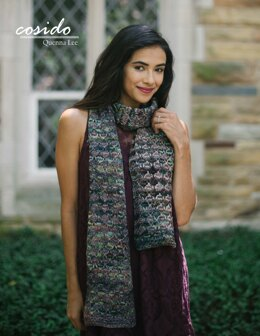 Cosido Scarf in Malabrigo Rios - Downloadable PDF