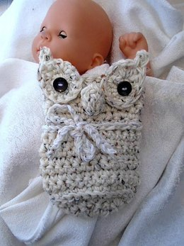 897-crochet stuffed owl toy or pillow