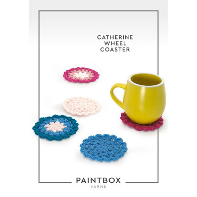 Catherine Wheel Coaster in Paintbox Yarns Simply DK - Downloadable PDF