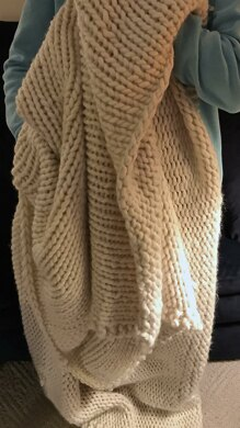 Winter is Coming, a Chunky Knit Blanket