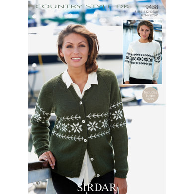 Cardigan and Sweater in Sirdar Country Style DK - 9438