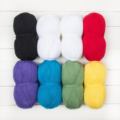Hayfield Bonus DK Vroom Vroom, Beep Beep by Vikki Bird - 8 Ball Colour Pack