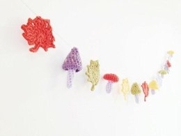 Leaves and Toadstool Garland