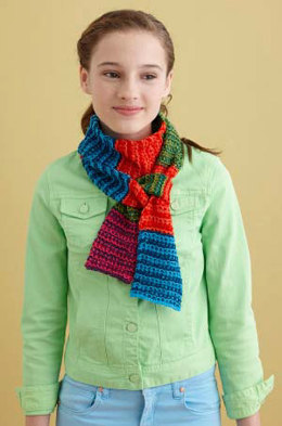 Slip Stitch Scarf in Lion Brand Bonbons Cotton - L20680