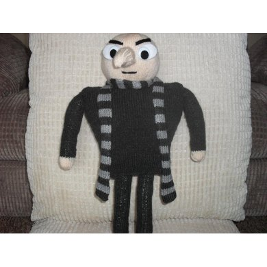 Gru Despicable Me Knitting Pattern By Madknit Knitting Patterns