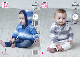 Sweaters in King Cole Cottonsoft Baby Crush DK & Cottonsoft DK - 5103 - Leaflet