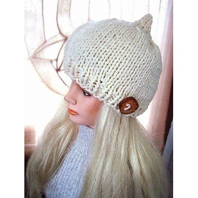 646 PIXIE POINT KNIT CLOCHE HAT, AGE 5 TO ADULT