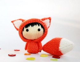 Orange Fox Doll with removable tail