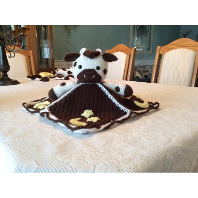 Baby Cow Lovey Blanket