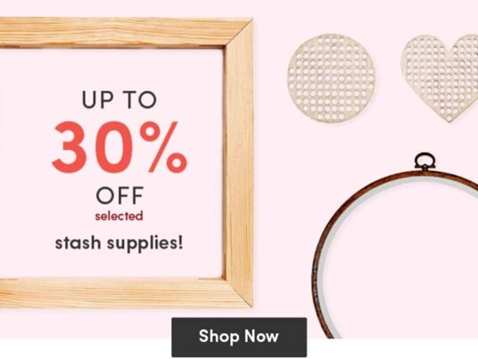 Up to 30 percent off embroidery & cross stitch accessories!