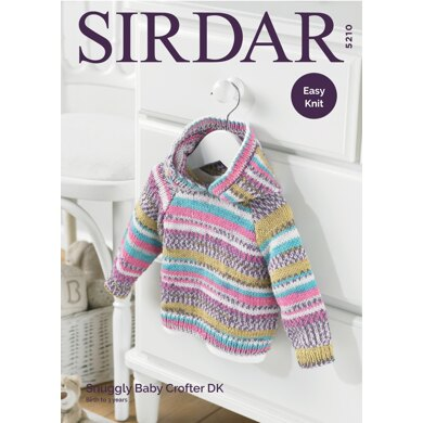 Hooded Sweater in Sirdar Snuggly Baby Crofter DK - 5210 - Downloadable PDF