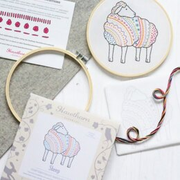 Hawthorn Handmade Sheep Contemporary Embroidery Kit -