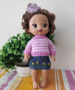 Baby Alive 13 inch doll Sweater