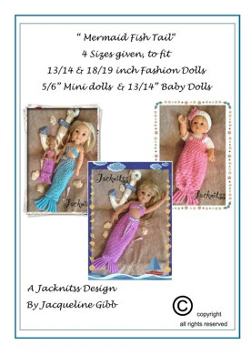 Mermaid Fish Tail for Dolls