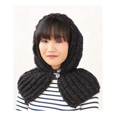 Hood in Lion Brand Wool-Ease Thick & Quick - L0393C